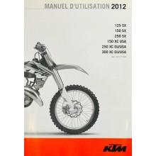 MANUEL UTILISATION SX EXC 2012 KTM