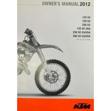 MANUEL UTILISATION ANGLAIS SX EXC 2012 KTM