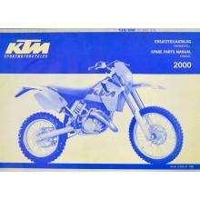 MANUEL ANGLAIS ALLEMAND SX MXC EXC 125 250 2000 KTM