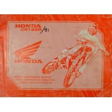 MANUEL UTILISATION CR 125 R 1991 HONDA