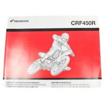 MANUEL UTILISATION CRF 450 R 2006 HONDA
