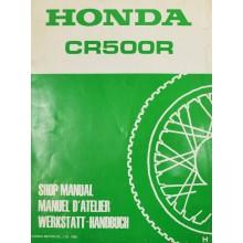 MANUEL UTILISATION CR 500 R 1987 HONDA