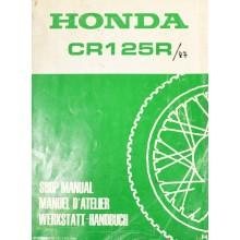MANUEL UTILISATION CR 125 R 1987 HONDA