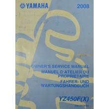 MANUEL UTILISATION YZF 450 2008 YAMAHA