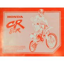MANUEL UTILISATION CR 80 R 1996 HONDA