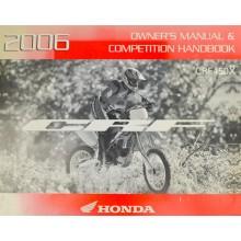 MANUEL UTILISATION ANGLAIS CRF 450 X 2006 HONDA