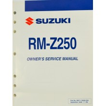 MANUEL UTILISATEUR ANGLAIS RMZ 250 2007 SUZUKI