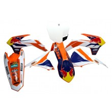KIT PLASTIQUE + DECO RED BULL EXC EXCF 11-16 SX SXF 11-15 KTM