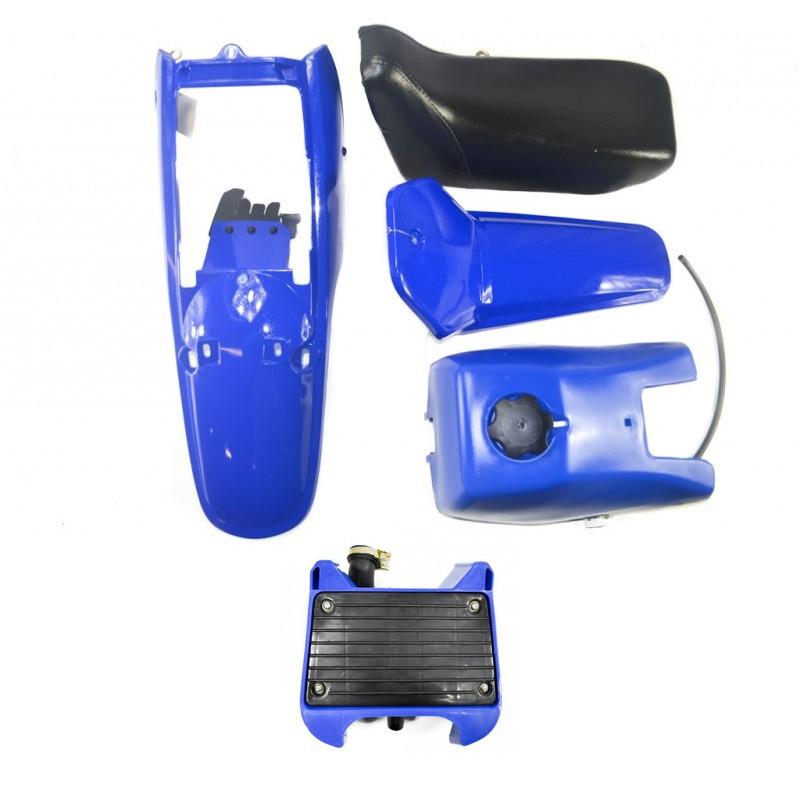 kit plastique complet bleu yamaha pw 80. Black Bedroom Furniture Sets. Home Design Ideas