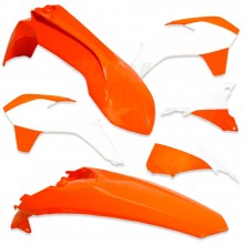 KIT PLASTIQUE KTM EXC EXCF 14-16 XFUN ORANGE / BLANC