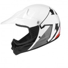 CASQUE CROSS ENFANT BLANC / ROUGE