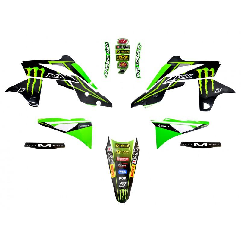 Kit d co 250 kxf 13 16 monster energy kawasaki mx2 racing team for Idee deco kot