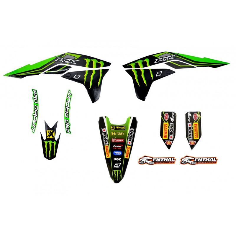Kit d co 450 kxf 16 17 monster energy kawasaki mx2 racing team for Idee deco kot