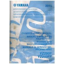 MANUEL UTILISATION 250 YZF 2015 YAMAHA