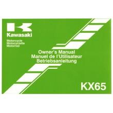 MANUEL UTILISATION 65 KX 2014 KAWASAKI