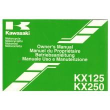 MANUEL UTILISATION 125 250 KX 2002 KAWASAKI