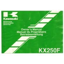 MANUEL UTILISATION 250 KXF 2007 KAWASAKI