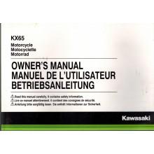 MANUEL UTILISATION 65 KX 2016 KAWASAKI