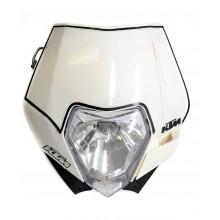 Plaque phare blanche EXC EXCF 08-13 KTM