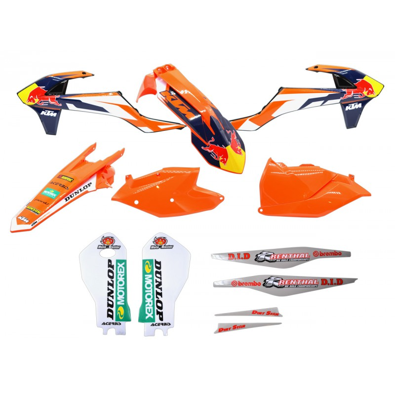 Nos marques > KTM > KIT PLASTIQUE + DECO RED BULL EXC EXCF 2017 KTM