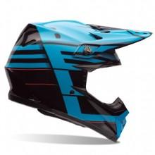CASQUE MOTO-9 CARBON FLEX BLOCKED BLUE