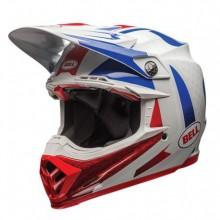 CASQUE MOTO-9 CARBON FLEX VICE BLUE/RED