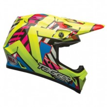 CASQUE MX-9 MIPS D.TROUBLE HI VIZ YELLOW