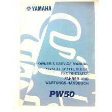 REVUE TECHNIQUE / MANUEL ATELIER PW 50 origine Yamaha