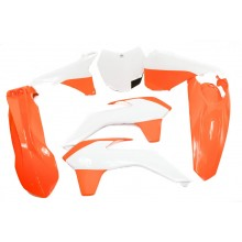 Kit Plastique  XFUN ORANGE / BLANC  KTM SXF - SX 2013 2015