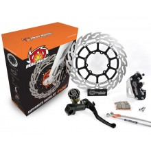 KIT FREIN AVANT COMPLET 320 MM MOTO-MASTER SUPER-MOTARD RACING HONDA 80/85/150 CR/CRF