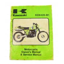MANUEL UTILISATION KDX 420 1981 KAWASAKI