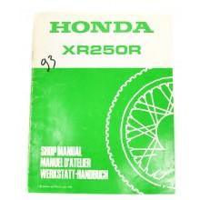 MANUEL UTILISATION XR 250 R 1993 HONDA