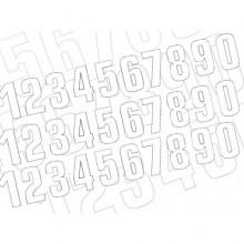 KIT NUMÉROS DE COURSE BLACKBIRD 0 À 9 130X70MM BLANC
