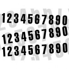 KIT NUMÉROS DE COURSE BLACKBIRD 0 À 9 160X75MM NOIR