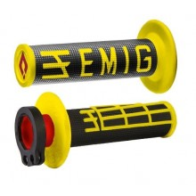 REVÊTEMENTS LOCK-ON ODI EMIG V2 JAUNE/NOIR