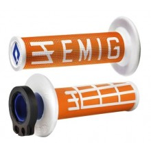 REVÊTEMENTS LOCK-ON ODI EMIG V2 ORANGE/BLANC