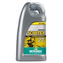 HUILE MOTEUR MOTOREX SCOOTER 2T SEMI-SYNTHÉTIQUE 1L
