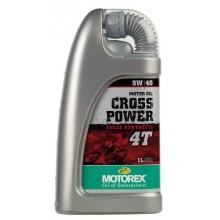 HUILE MOTEUR MOTOREX CROSS POWER 4T 5W40 SYNTHÉTIQUE 1L