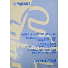 MANUEL UTILISATION WRF 450 2007 YAMAHA
