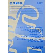 MANUEL UTILISATION YZ 250 2012 YAMAHA
