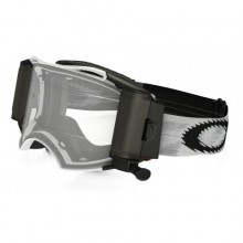 MASQUE OAKLEY AIRBRAKE RACE-READY ROLL-OFF MATTE WHITE SPEED ÉCRAN TRANSPARENT