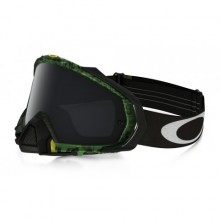 MASQUE OAKLEY MAYHEM PRO DISTRESS TAGLINE GREEN ÉCRAN DARK GREY