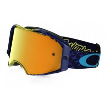 MASQUE OAKLEY AIRBRAKE TROY LEE DESIGNS STARBUST YELLOW/BLUE ÉCRAN 24K IRIDIUM