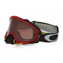 MASQUE OAKLEY MAYHEM PRO HERITAGE RACER BRIGHT RED ÉCRAN PRIZM MX BRONZE