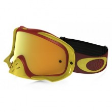 MASQUE OAKLEY CROWBAR SHOCKWAVE YELLOW/BRIGHT RED ÉCRAN 24K IRIDIUM + TRANSPARENT