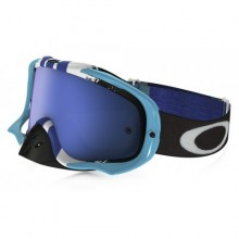 MASQUE OAKLEY CROWBAR PINNED RACE BLUE/WHITE ÉCRAN ICE IRIDIUM
