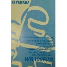 REVUE TECHNIQUE/MANUEL UTILISATION WRF 400 2000 YAMAHA