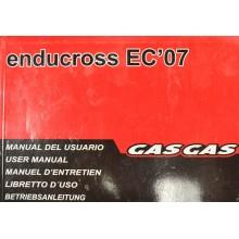 REVUE TECHNIQUE/MANUEL UTILISATEUR ENDUROCROSS EC 2007 GAS GAS