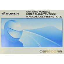REVUE TECHNIQUE/MANUEL UTILISATEUR ANGLAIS CBR 600 RR 2006 HONDA