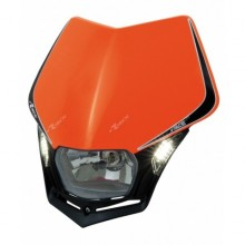 PLAQUE PHARE RACETECH V-FACE LED ORANGE